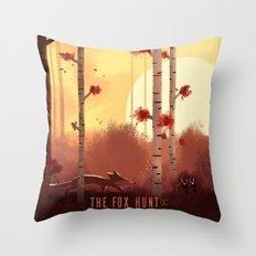 The Fox Hunt Throw Pillow