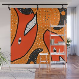 Whales - aboriginal Wall Mural