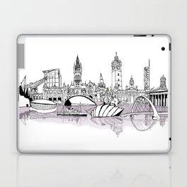 Glasgow City Skyline Laptop & iPad Skin