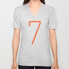 The Lucky Number Seven Unisex V-Neck