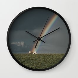 Rainbow II  - Landscape and Nature Photography Wall Clock