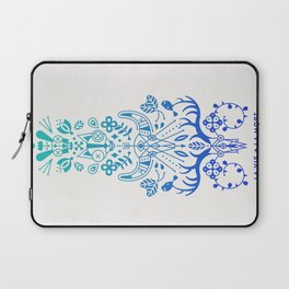 La Vie & La Mort – Blue Ombré Laptop Sleeve