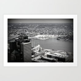 Cincinnati - Downtown #1 Art Print