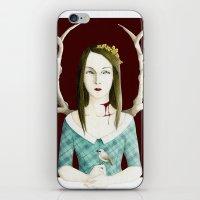 minnesota iPhone & iPod Skins featuring Minnesota Shrike by polly