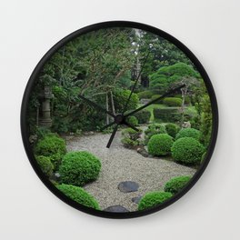 peaceful pebble pathway Wall Clock