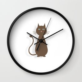 Plotting Feline Wall Clock