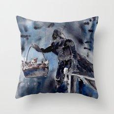 Cat Dad Vader 2 Throw Pillow