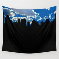 nyc Wall Tapestries featuring NYC by trebam