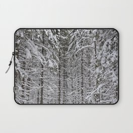Wintery forest  background Laptop Sleeve