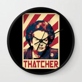 Margaret Thatcher Retro Propaganda Wall Clock