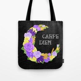 Crescent Bloom | Lavender and lemons  Tote Bag