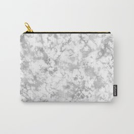 White grunge marble texture Carry-All Pouch