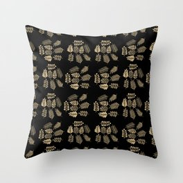 Pattern with branches Throw Pillow