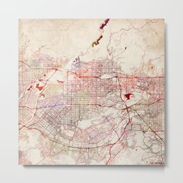 Glendora CA map Metal Print