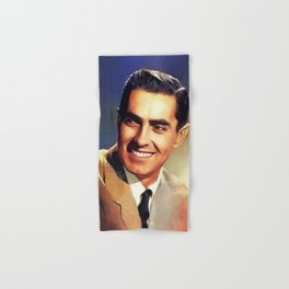 Tyrone Power, Vintage Actor Hand & Bath Towel