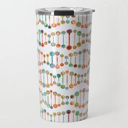 Watercolor DNA Strands Travel Mug