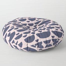 Half moon horizontal geometric print - Navy Floor Pillow
