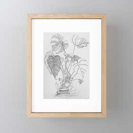 Monstera. Living Framed Mini Art Print