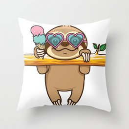Sloth Hangout Throw Pillow