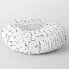 Skateboard Black Lines Floor Pillow