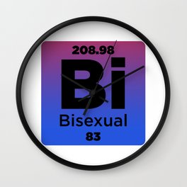 Bisexual Element Wall Clock
