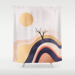 The Flowing Golden Desert Shower Curtain