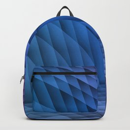 Geometric Path Blue-Pink Backpack