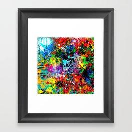 Splatter Pattern Framed Art Print