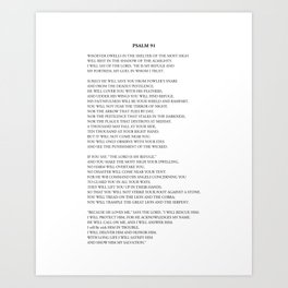 Psalm 91 Art Print