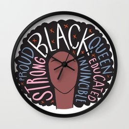 Proud to be black Wall Clock