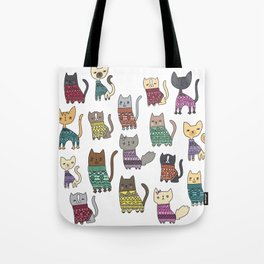 sweater cats Tote Bag