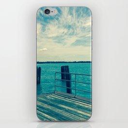 Dock Overlooking River iPhone Skin
