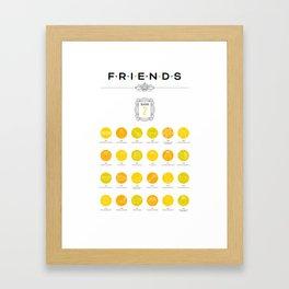 Tribute to Friends: Season 2 Framed Art Print