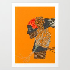 mosaic girl Art Print