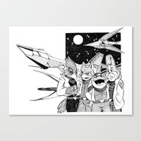 starfox Canvas Prints featuring Starfox Team by Pajarona