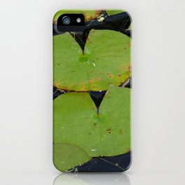 Lillypads in the pond iPhone Case
