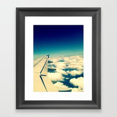 sea of clouds Framed Art Print