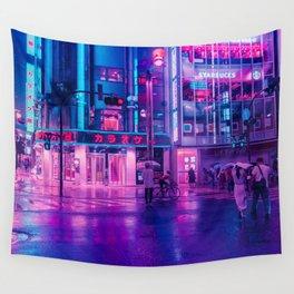 Neon Nostalgia Wall Tapestry