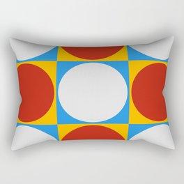 Dots on Checkerboard Rectangular Pillow