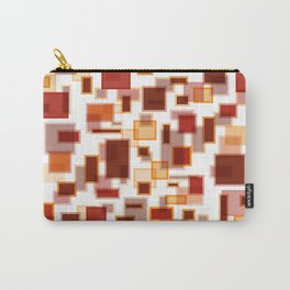 Red Abstract Rectangles Carry-All Pouch