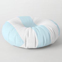 Aqua Blue and white stripe Floor Pillow