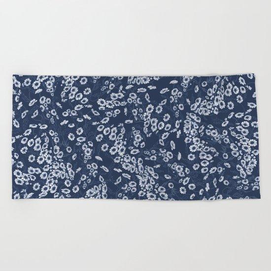 Daisy Dream Navy Beach Towel