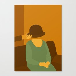 The Man Who Mistook His Wife for a Hat — The Hat Canvas Print
