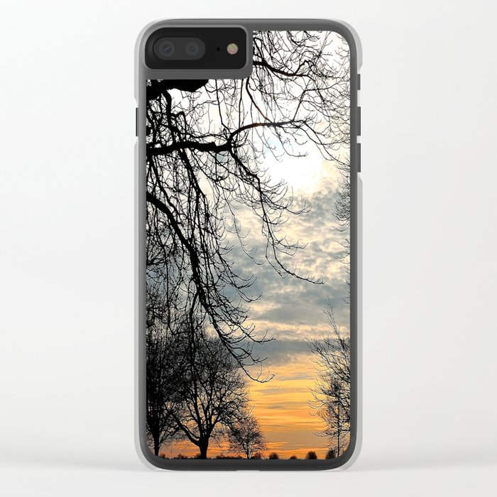 Calm Before An Evening Storm Clear iPhone Case