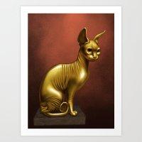 Sphinx Cat Idol Art Print