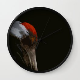Sleeping Crane Wall Clock