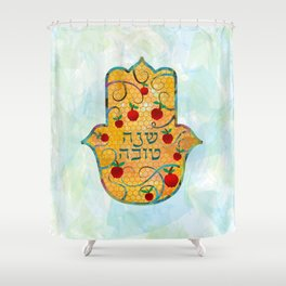 Rosh Hashanah wish Shower Curtain