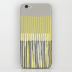 Yellow Rising - abstract stripes in yellow, grey, black & white iPhone & iPod Skin