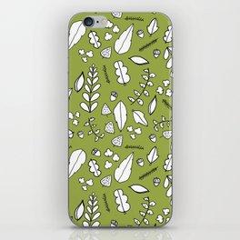 Scandi Leaves iPhone Skin