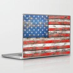 USA Vintage Wood Laptop & iPad Skin